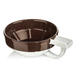 Fine Accoutrements Brown And White Porcelain Shaving Lather Bowl