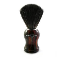 Edwin Jagger 21P33 Imitation tortoiseshell shaving brush (Black Synthetic)