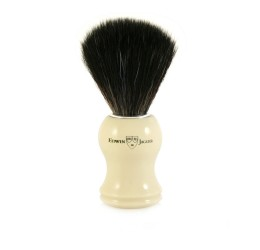 Edwin Jagger 21P37 Imitation ivory shaving brush (Black Synthetic)
