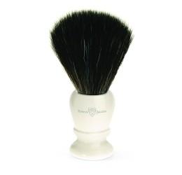 Edwin Jagger Imitation Ivory Shaving Brush (Black Synthetic)