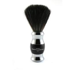 Edwin Jagger Black & Chrome Shaving Brush (Black Synthetic)