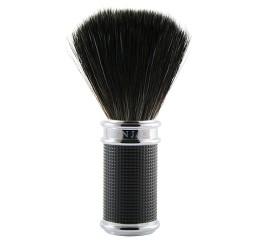 Edwin Jagger Black/Chrome 3D Diamond Shaving Brush (Black Synthetic)
