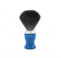 Edwin Jagger Blue Shaving Brush (Black Synthetic)