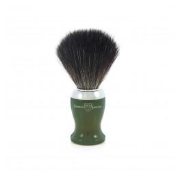 Edwin Jagger Green Shaving Brush (Black Synthetic)