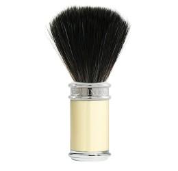 Edwin Jagger Chrome & Ivory Shaving Brush (Black Synthetic)