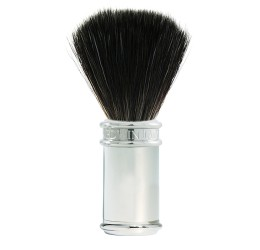 Edwin Jagger Chrome Shaving Brush (Black Synthetic)
