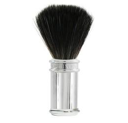Edwin Jagger Chrome Lined Shaving Brush (Black Synthetic)