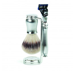 Edwin Jagger Chatsworth Barley 3 Piece Fusion Set (Synthetic Silver Tip)