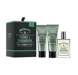 Scottish Fine Soaps Vetiver & Sandalwood Well Groomed Gift Set