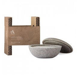 Arran Lochranza Shave Stone and Soap with packaging