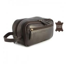 Ashwood Westminster Gents Leather Wash Bag (Brown)