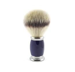 Edwin Jagger Bulbous Blue Shaving Brush (Synthetic Silver Tip)