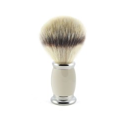 Edwin Jagger Bulbous Grey Shaving Brush (Synthetic Silver Tip)