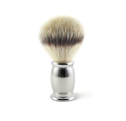 Edwin Jagger Bulbous Lined Shaving Brush (Synthetic Silver Tip