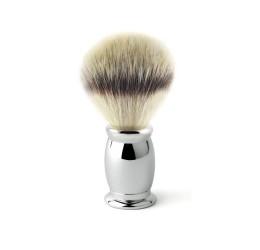 Edwin Jagger Bulbous Chrome Shaving Brush (Synthetic Silver Tip)