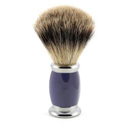 Edwin Jagger Blue Bulbous Shaving Brush (Best Badger)