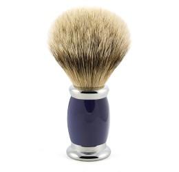 Edwin Jagger Blue Bulbous Shaving Brush (Super Badger)