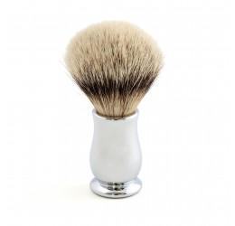 Edwin Jagger Chatsworth Chrome Shaving Brush (Silver Tip)