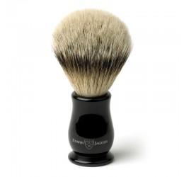 Edwin Jagger Chatsworth Imitation Ebony Shaving Brush (Silver Tip)
