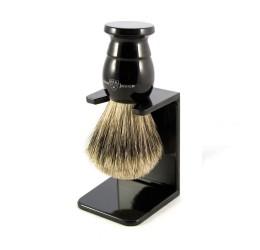 Edwin Jagger Imitation Ebony Best Badger Shaving Brush with Stand