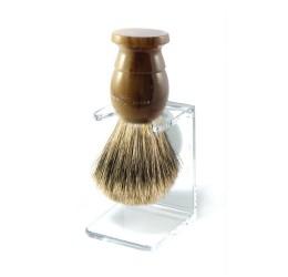 Edwin Jagger Light Horn Best Badger Shaving Brush with Stand
