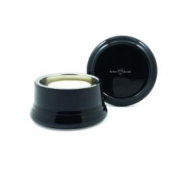 Edwin Jagger Porcelain Black Shaving Bowl with Lid
