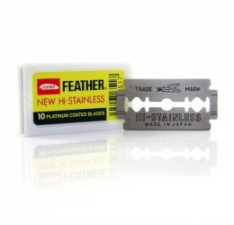 Feather New Hi-Stainless DE Razor Blades (10 Pack)