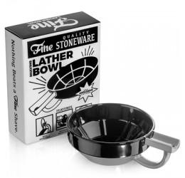 Fine Accoutrements Porcelain Shaving Bowl Black/Grey