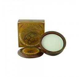 Geo F Trumper Coconut Oil Shaving Soap (Wooden Bowl)