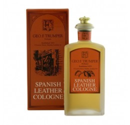 Geo F Trumper Spanish Leather Cologne In A Glass Bottle 100ml