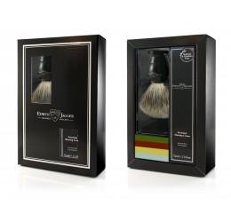 Edwin Jagger Imitation Ebony Shaving Brush and Cream Gift Set - Sandalwood