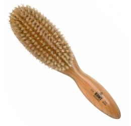 Kent Cherry Wood Hairbrush (White Bristles)