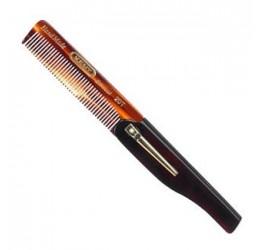 Kent Folding Pocket Comb With Clip