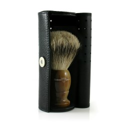 Hans Kniebes Leather Shaving Brush Travel Case