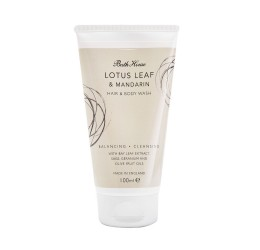 Bath House Lotus Leaf & Mandarin Hair & Body Wash 100ml