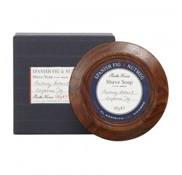 Bath House Spanish Fig & Nutmeg Shaving Soap Bowl 100g
