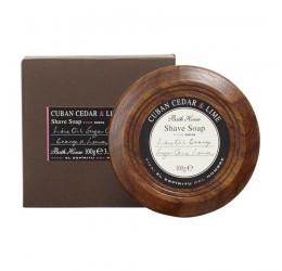 Bath House Cedar & Lime Shaving Soap Bowl 100g