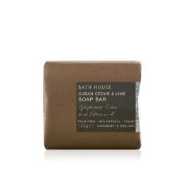 Bath House Cuban Cedar & Lime Soap Bar 100g