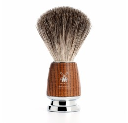 Muhle Rytmo Ash & Chrome Shaving Brush (Pure Badger)