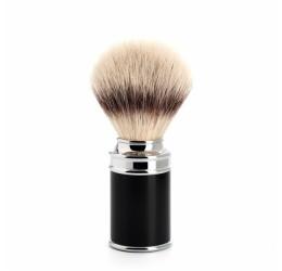 Muhle Black & Chrome Shaving Brush (Synthetic Silvertip)