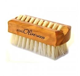Natural Sea Sponge Company Olive Wood Travel Nail Brush