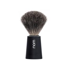 Nom Carl Pure Badger Shaving Brush (Black)
