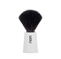 Nom Carl White Shaving Brush (Black Synthetic)