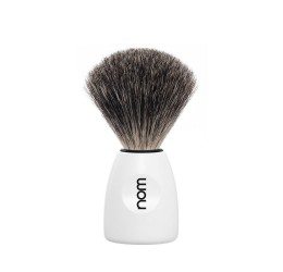 Nom Lasse Pure Badger Shaving Brush (White)