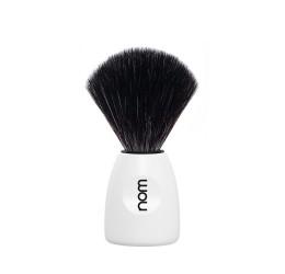 Nom Lasse White Shaving Brush (Black Synthetic)