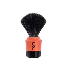 Nom Marten Coral Shaving Brush (Black Synthetic)