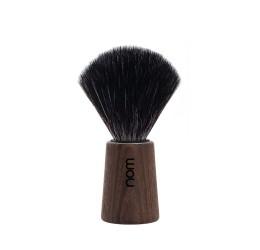 Nom Theo Dark Ash Shaving Brush (Black Synthetic)