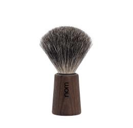 Nom Theo Pure Badger Shaving Brush (Dark Ash)