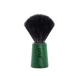 Nom Theo Green Ash Shaving Brush (Black Synthetic)