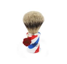 Omega 6735 Barber Pole Super Badger Shaving Brush
